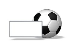 Soccer card Royalty Free Stock Images