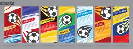 Soccer card design, football vector set. Stock Images