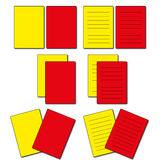Soccer cards. Set of red and yellow soccer cards Royalty Free Stock Photography