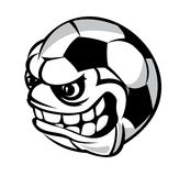 Soccer cartoon ball Royalty Free Stock Images