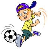 Soccer cartoon kid Royalty Free Stock Photography