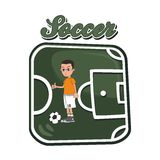 Soccer cartoon theme Royalty Free Stock Image