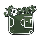 Soccer cartoon theme Stock Photo