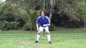 Soccer Catch stock video footage