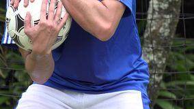 Soccer Catch stock footage