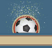 Soccer celebrate background Stock Images
