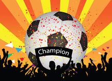 Soccer celebration. Illustration of soccer celebrate background Stock Images