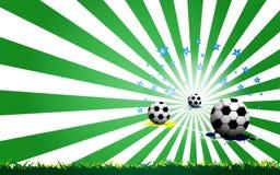 Soccer celebration concept background Stock Images