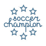 Soccer Champion Decoration Stock Images