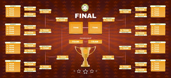 Soccer Champions Final Spreadsheet Royalty Free Stock Images