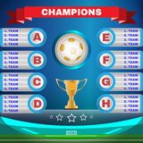Soccer Champions Template Stock Images