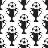 Soccer champions trophy seamless pattern Royalty Free Stock Image