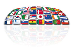 Soccer championship 2010. The picture shows flags of countries which play the soccer championship 2010 Royalty Free Stock Photos