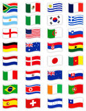 Soccer championship 2010. The picture shows flags of countries which play the soccer championship 2010 Stock Photo