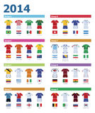 Soccer championship colours Stock Images