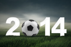 Soccer championship of 2014 concept stock photography
