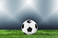 Soccer. Championship concept with soccer ball. stock images