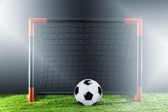 Soccer. Championship concept with soccer player. royalty free stock images