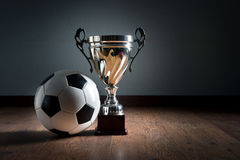 Soccer championship cup Royalty Free Stock Image