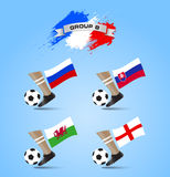 Soccer Championship Final Tournament Group B Stock Image