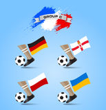 Soccer Championship Final Tournament Group C. Sample Stock Photography