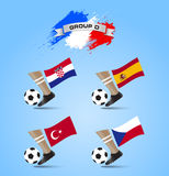 Soccer Championship Final Tournament Group D. Sample Royalty Free Stock Photo