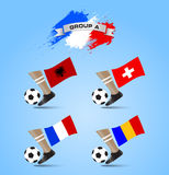 Soccer Championship Final Tournament Group A Stock Images