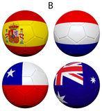 Soccer Championship 2014 Group B Flags Royalty Free Stock Photography