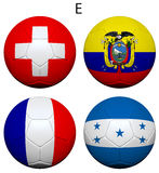 Soccer Championship 2014 Group E Flags Royalty Free Stock Photography