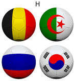 Soccer Championship 2014 Group H Flags Royalty Free Stock Images