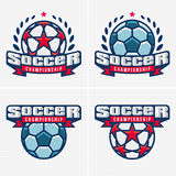 Soccer championship logo Royalty Free Stock Photography