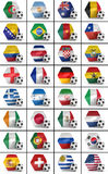 Soccer championship nations set vector illustration
