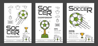 Soccer championship posters Royalty Free Stock Image