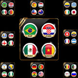 Soccer championship 2014 team groups. I have created soccer championship 2014 team groups royalty free illustration