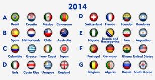 Soccer Championship teams Royalty Free Stock Photos