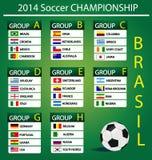 Soccer championship 2014. Vector illustration Stock Photos