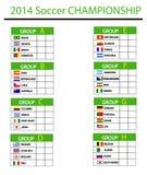Soccer championship 2014. Vector illustration Stock Images
