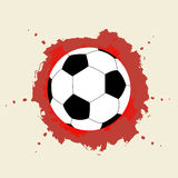 Soccer Championship. On watercolor background Stock Photo
