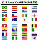 Soccer championship 2014. On white Stock Images