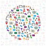 Soccer circle icons background, Illustration  eps10 Stock Photography