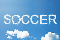 SOCCER a cloud word Stock Photos