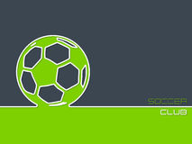 Soccer club background flat style Stock Images
