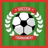 Soccer club ball laurel sport tournament Royalty Free Stock Photography