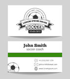 Soccer club business card Stock Photo