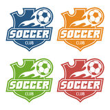 Soccer club emblem Stock Image