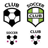Soccer club emblem ball Stock Photography