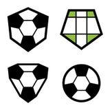 Soccer club emblem ball Stock Photo