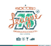 Soccer club emblem Royalty Free Stock Photo