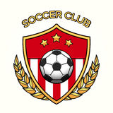 Soccer club emblem. Vector soccer club emblem or football sports team logo isolated on white background Royalty Free Stock Image