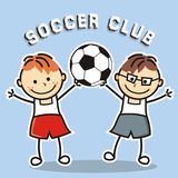 Soccer club, kids team Stock Image